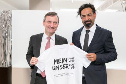 Oberbürgermeister Thomas Geisel besucht das Sportwerk