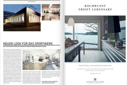 Sportwerk in der Architekturzeitschrift CUBE